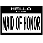 Maid of Honor Nametag (black)