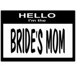 Brides Mom Nametag (black)