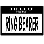 Ring Bearer Nametag (black)