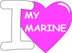 Pink - I Love My Marine Design