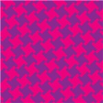Pink-Purple Houndstooth