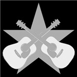 STAR SILVER ACOUSTIC GUITAR T-Shirts