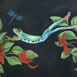Leaping Frog with Dragon fly