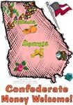GA - Confederate Money Welcome! (2003 flag)
