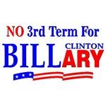 No 3rd Term For Billary Clinton