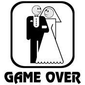 Smiling Bride & Groom Game Over