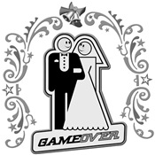Game Over Art Deco Silver Wedding