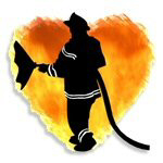Firefighters Love Flames Silhouette Gift Ideas