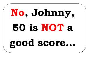 Not a good score