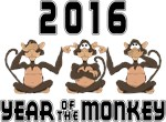 2016 Funny Year of The Monkey T-Shirts & Gifts