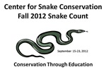 2012 Fall Snake Count