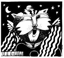 Cat On A Hot Tune Riff B/W