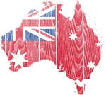 Australia Civil Ensign Flag And Map