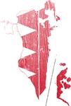 Bahrain Flag And Map
