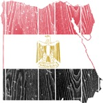 Egypt Flag And Map