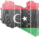 Libya Flag And Map