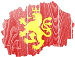 Macedonia Lion Flag And Map