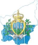 San Marino Flag And Map