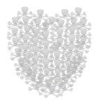 skull and crossbones heart valentine