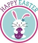 Happy Easter Girl Bunny Rabbit