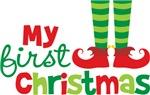 Elf Feet Babies 1st Christmas