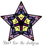 Purple Stained Glass Star