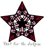 Pink Stained Glass Star