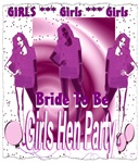 girls hen party last night of freedom art illustra