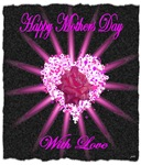 mothers day heart inside a rose art illustration