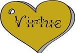 LDS Young Women Value Heart - Gold Virtue