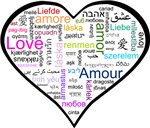 Heart Love in different languages