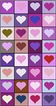 Pink and Purple Heart Squares Pattern