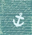 Turquoise Nautical anchor design