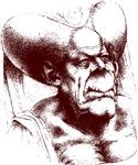 grotesque woman