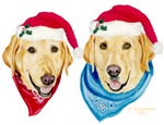 Christmas Yellow Labs