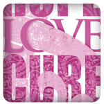Hope Love Cure Breast Cancer Awareness