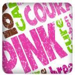 Pink Ribbon Word Cloud