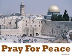 Pray for Peace Jerusalem Posters and Prints