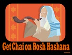 Get Chai On Rosh Hashanah Greeting Card