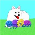 American Eskimo Dog  Easter