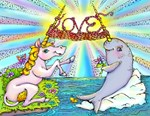 Narwhal and Unicorn Knitting Love Together