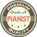 Pianist Music T-shirts (Premium Quali