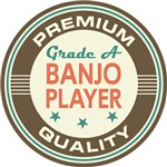 Banjo Player Music T-shirts (Premium Quali