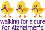 Alzheimer's Walk for A Cure Chick T-shirts