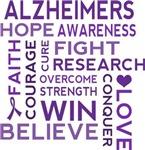Alzheimers Support Word Cloud T-shirts