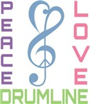 Peace Love Drumline Music T-shirts