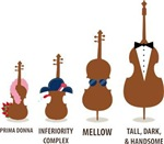 Funny Orchestra Strings Instruments Tees