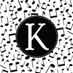 Music Monogram Letter K Gifts