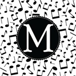 Music Monogram Letter M Gifts