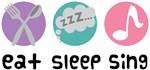 Eat Sleep Sing Music T-shirts